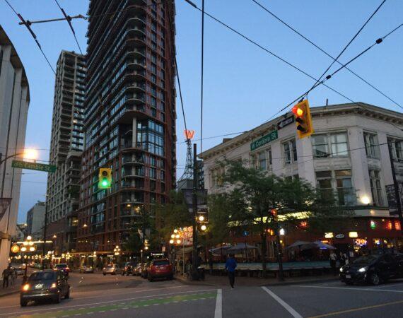 Gastown intersection in Vancouver, street corner