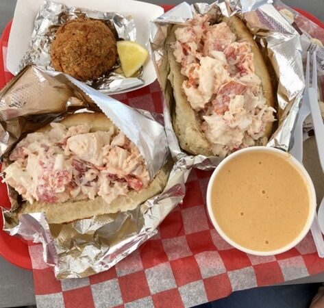 Lobster rolls from Boston