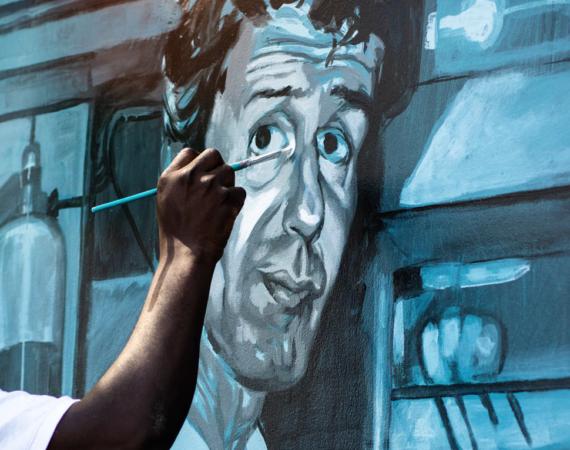 Anthony bourdain street art