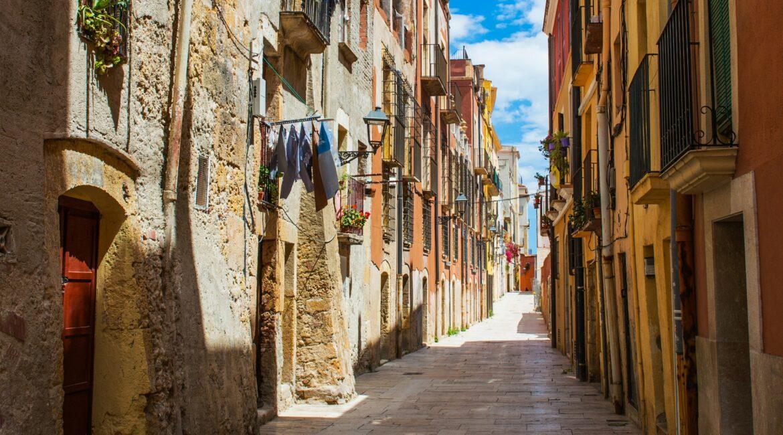 spain street in Burgos