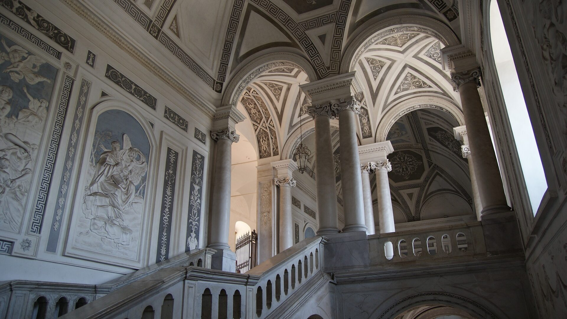Inside Catania building