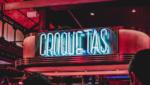 Croquetas neon sign in Spain
