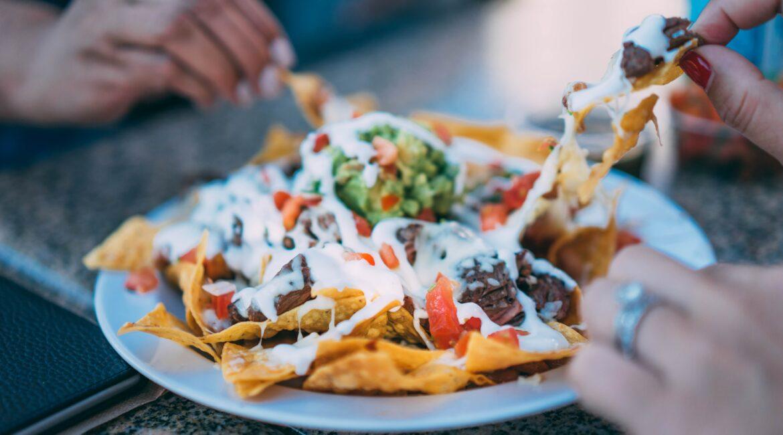 nachos colorful and delicious