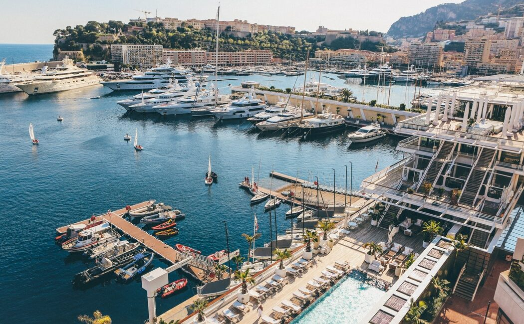 Beautiful yachts in Monaco