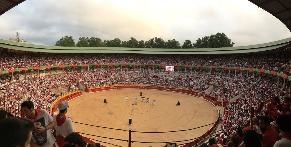 Pamplona bull run stadium
