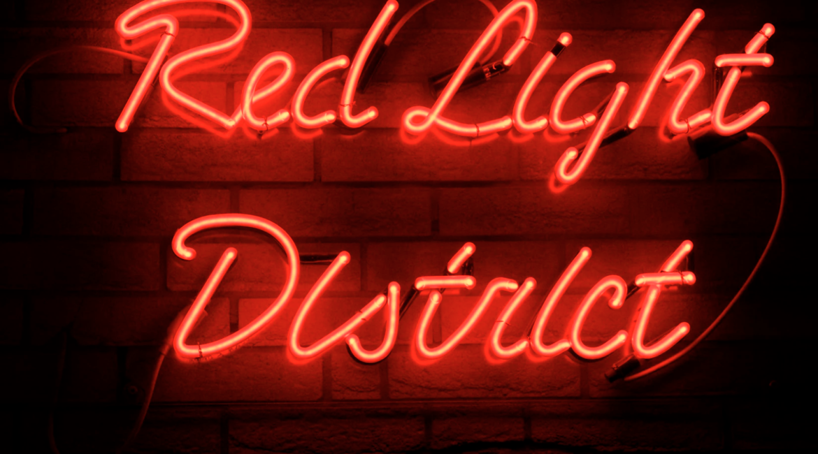 Red Light District neon sign