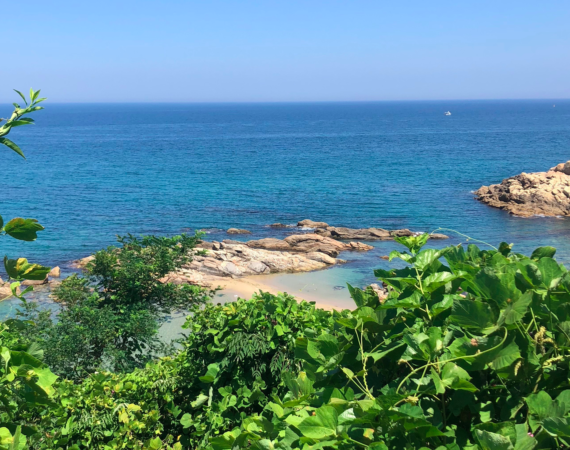 Beautiful picture of Sokcho beach in South Korea