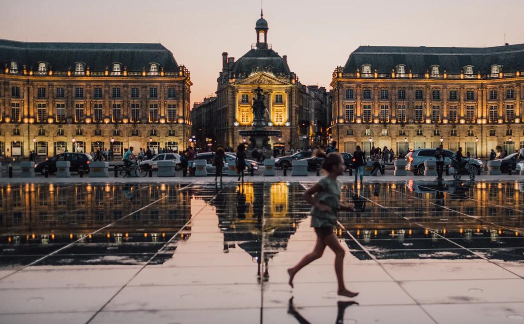 Reflective rain in european city