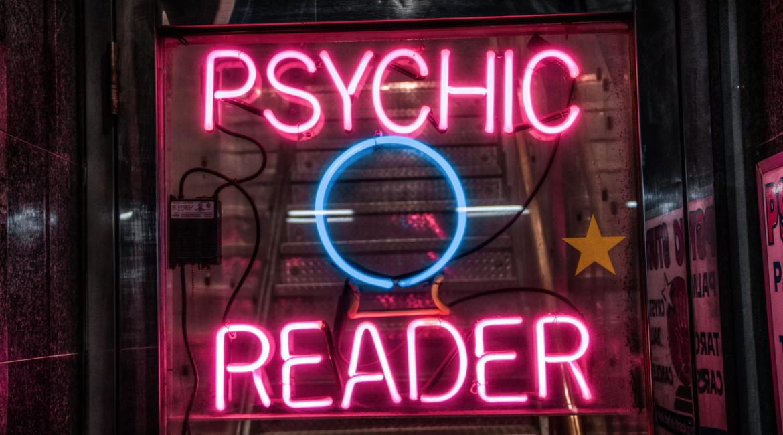 Psychic reader sign