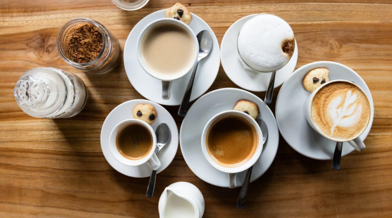 coffee table overhead shot