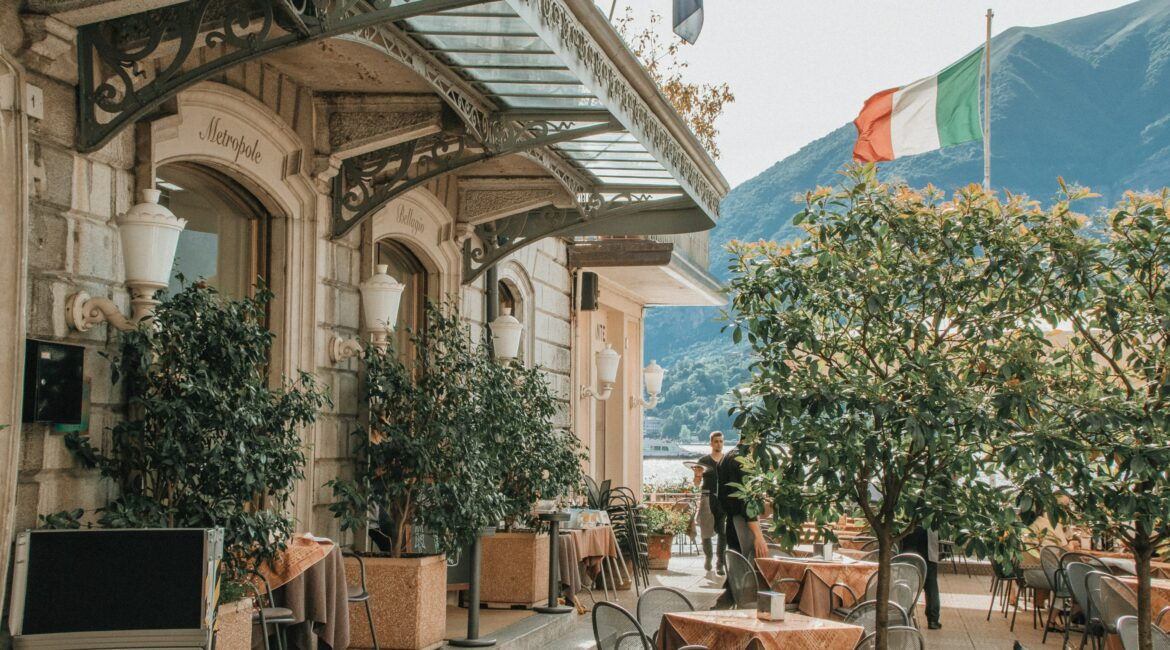 Italian patio and cafe