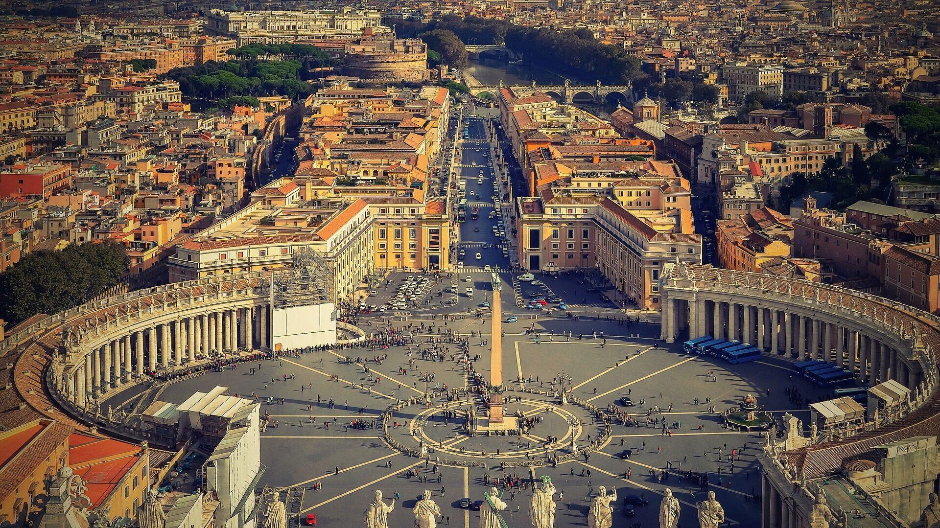 Vatican city overhead