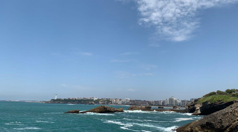Ocean view in Biarritz, France