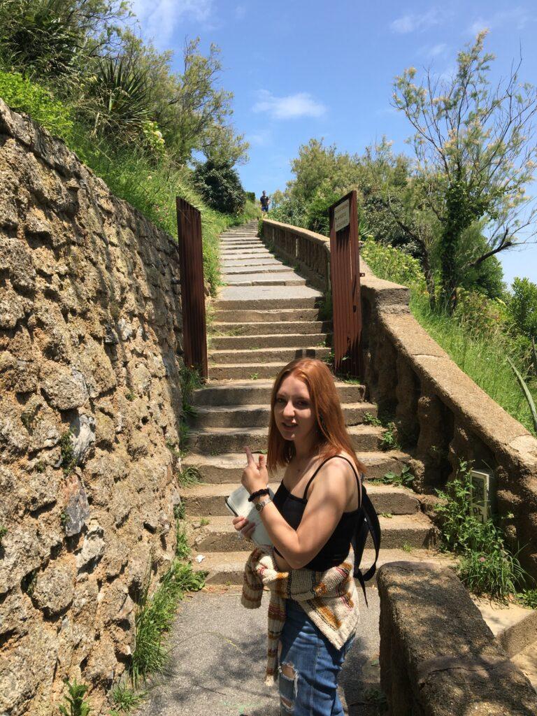 Girl hiking in France