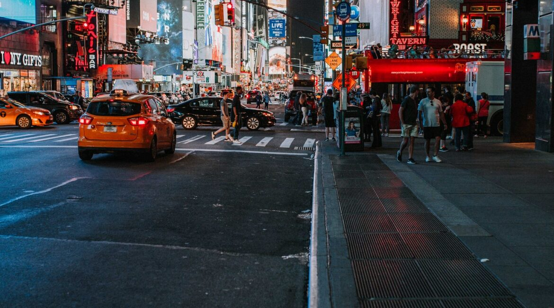 New York City or NYC city lights at night