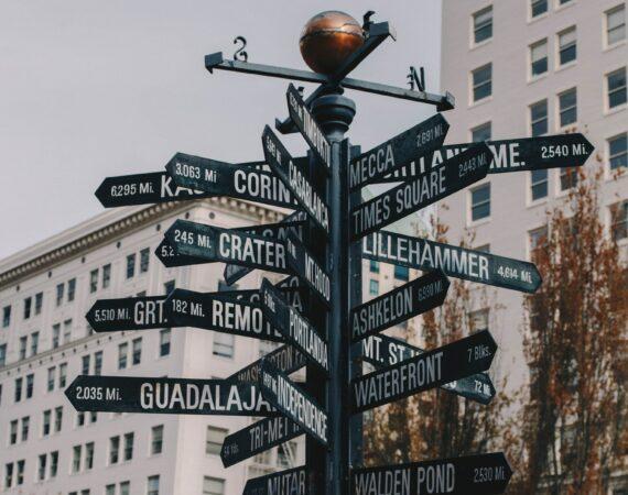 Street signs in Portland