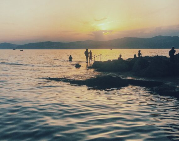 Sunset in Split, Croatia