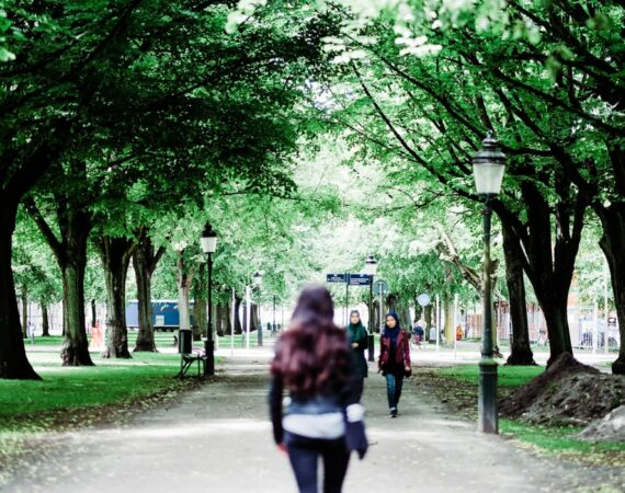 girl standing in park in malmö